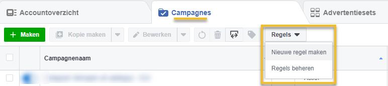 Facebook Automatische regels instellen