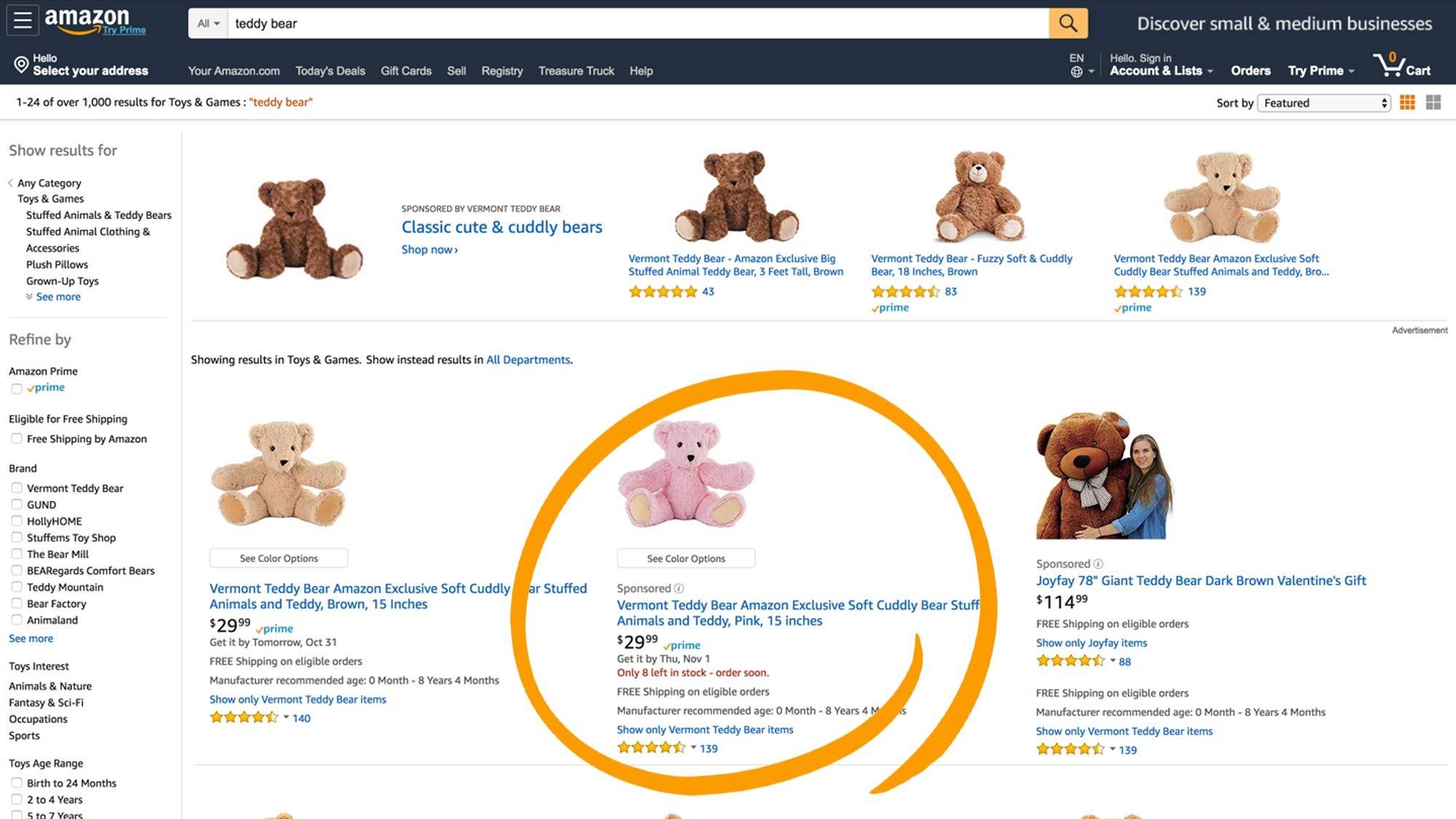 Amazon: sponsored ads